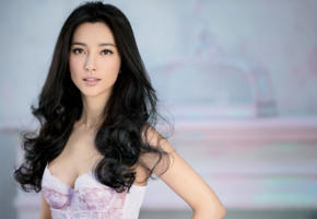 asian, black hair, li bingbing, lingerie, sexy, hot