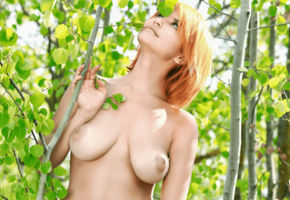 violla a, woods, boobs, 4k, redhead, big tits, nipples, dina p, myza