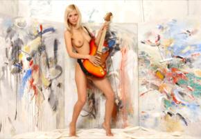 alla, paloma b, crystal, reese, naked, blonde, tanned, guitar, legs, tits, boobs, crystal b, paloma a