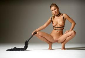 darina l, candice b, gorgeous, blonde, dominatrix, whip, beautiful, big tits, erotic, fetish, shaved, shaved pussy, labia, pussy, tits, boobs, tanned, oiled, candice brielle, squatting