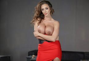 ariella ferrera, milf, big tits, red dress, nipples, boobs, dress, topless, ariella, ariella ferrara, ella ferrera