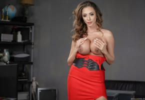 ariella ferrera, milf, big tits, red dress, handbra, boobs, nipples, brunette, ariella, ariella ferrara, ella ferrera