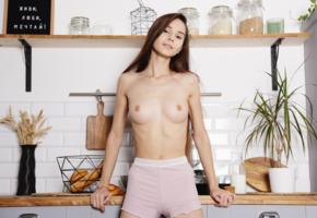leona mia, kitchen, leona, leona a, tits, boobs, topless