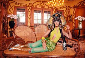 christina aguilera, blonde, singer, celebrity, actress, long hair, wig, fancy dressed, tight clothes, egyptian, cheers, champagne