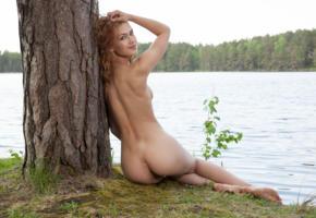 laina, outdoor, back, ass, outside, smile, eye contact, lada, lada a, lady lada, laura angelina, redhead, river, lake