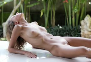katya clover, clover, mango, caramel, mango a, brunette, outdoors, tanned, naked, boobs, tits, nipples, shaved pussy, labia, hi-q