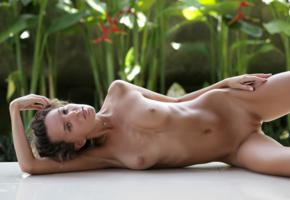 katya clover, clover, mango, caramel, mango a, brunette, outdoors, tanned, naked, boobs, tits, nipples, shaved pussy, labia, smile, hi-q
