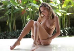 katya clover, clover, mango, caramel, mango a, brunette, outdoors, tanned, naked, boobs, tits, nipples, pussy, spread labia, smile, hi-q