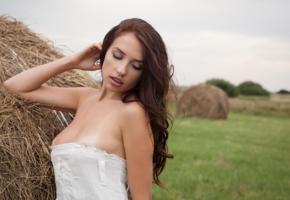 niemira, brunette, haystack, outdoors, tan lines, hay, lynna tamari, mira, miya, nonna y, tiffany, sexy, teen