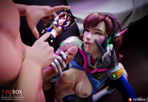 dva, overwatch, cum, cumshot, facial, cum on tits, cum on face, sperm, ejaculation