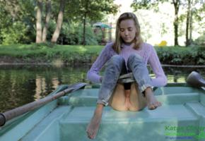 katya clover, boat, shaved, pussy, river, ass, public, shaved pussy, undressing, jeans, caramel, caramel s, clover, cloverq, mango a, denim, denim jeans