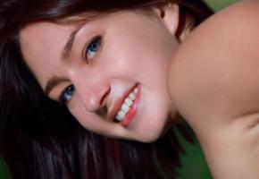 rebekka, face, eyes, brunette, smile