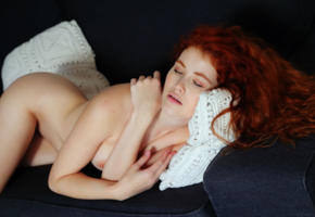 heidi romanova, vanessa, heidi, heidi r, adel c, adel, redhead, boobs, tits, closed eyes