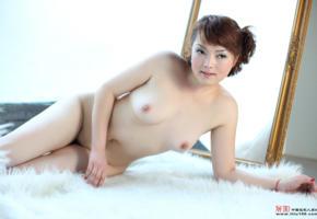 fei fei, nipples, mirror, asian, tits, legs, nude