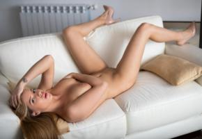 couch, legs, naked, shaved, pussy, tits, heather, moonlight, boobs, tanned, shaved pussy