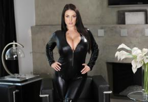 angela white, fetish, non nude, cleavage, lamp, flowers