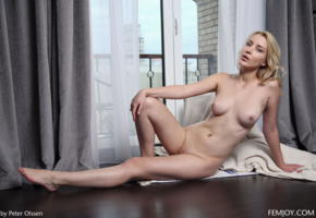 amaris, blonde, nipples, shaved pussy, nude, curtains, window, boobs, tits, spreading legs, koko, kortney y, olena, koko amaris
