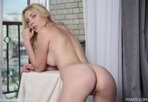 amaris, blonde, round ass, eye contact, curtains, koko, koko amaris, kortney, kortney y, olena, ass, pussy, labia, nude, boobs, big tits