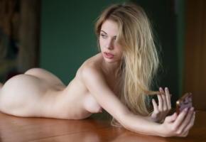 alexandra smelova, boobs, tits, nipples, nude, selfie, blonde