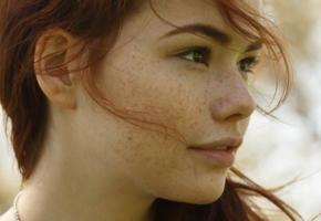 sabrina lynn, redhead, face, freckles