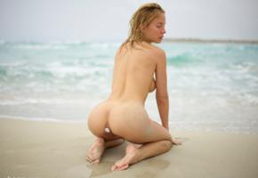 natalie andreeva, natalia a, delilah g, blonde, danica, danica jewels, naked, hi-q, butt plug, ass, anus, wet, beach, sand, waves, back, sea, ocean