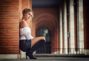 girl, sexy, posing, look, non nude, bootes, blouse