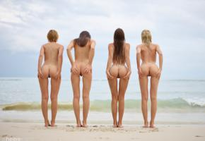 ariel, marika, melena, mira, lilit a, maria ryabushkina, four girls, hot girls, nude, beach, erotic, multiple girls, outdoors, shaved, ass, 4 girls, sea, tanned