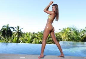 maria ryabushkina, maria, tara, melena, brunette, pool, bikini, tanned, wet, ass, smile, ultra hi-q
