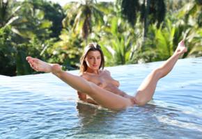 maria ryabushkina, maria, tara, melena, maria rya, brunette, pool, wet, naked, boobs, tits, nipples, shaved pussy, labia, spread legs, smile, ultra hi-q