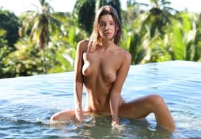 maria ryabushkina, maria, tara, melena, maria rya, brunette, pool, wet, naked, tanned, boobs, tits, nipples, spread legs, ultra hi-q