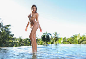 maria ryabushkina, maria, tara, melena, maria rya, brunette, pool, tanned, wet, naked, boobs, tits, nipples, ultra hi-q