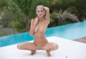 nancy ace, nancy a, jane f, erica, blonde, pigtails, pool, naked, boobs, tits, nipples, landing strip, pussy, labia, spread legs, squatting, hi-q