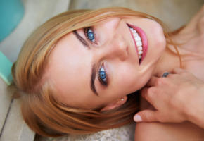 nancy a, blonde, babe, blue eyes, smile, eyes