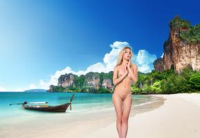 eva tali, masha poplavskaya, eva sugar, blonde, beach, boat, naked, boobs, nipples, trimmed bush, pussy, labia, hi-q, big tits