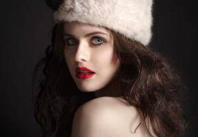 alexandra daddario, gorgeous, close-up, red lips