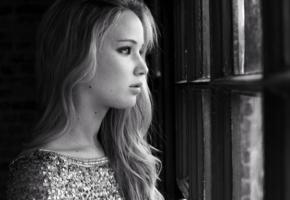 jennifer lawrence, perfect, staring out the window, beautiful, face