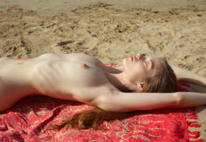 ryonen, skinny, young, perfect tits, tits, boobs, beach, nude