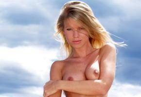 marketa belonoha, top model, sunny day, natural blonde, tits, boobs, nipples, tanned, smile