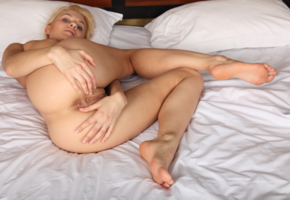 naked, ass, anus, labia, pussy, blonde, bed, unknown, pillows
