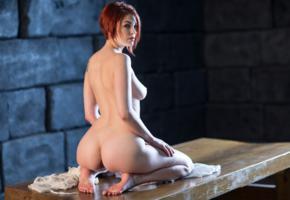 bree daniels, ass, tits, nude, redhead