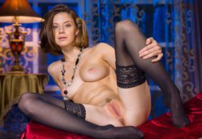 pussy, ass, nude, sexy, spreading, tits, anita, anus, stockings, black stockings, boobs
