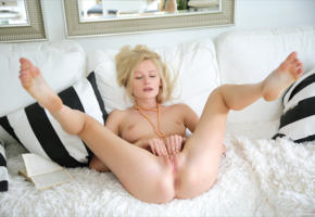 gerda, sexy, blonde, pale skin, shaved pussy, blue eyes, shaved, ass, anus, labia, pussy, tits, boobs, spreading legs