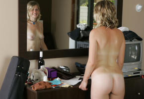 motel, boobs, ass, mirror, tits, blonde, amateur, reflection