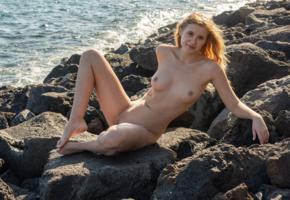 casey, model, blonde, beach, nude, sea, boobs, tits, nipples, shaved pussy, katya blue