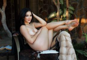 malena, nude, model, brunette, asian, big tits, boobs, nipples, legs, feet