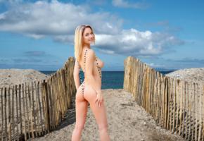 danica, natalie andreeva, blonde, beach, fence, string bikini, nude, boobs, tits, ass, smile, hi-q, danica jewels