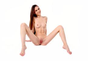 leona mia, leona a, model, brunette, long hair, smile, sweet, skinny, tits, open legs, pussy, shaved pussy, labia, anus, legs, nude