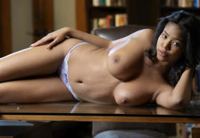 nia nicce, secretary, big boobs, ebony, boobs, big tits, nipples, topless, panties