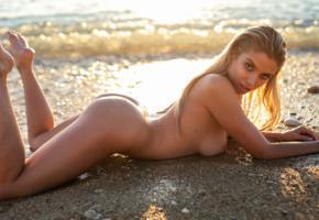 margot, beach, wet, model, naked, sexy, ass, sexy ass, big tits, blonde, nude, brunette, tanned, boobs, nipples, sea