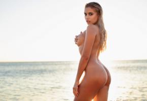 margot, model, sexy, naked, big tits, ass, sexy ass, wet, beach, blonde, nude, tanned, boobs, sea